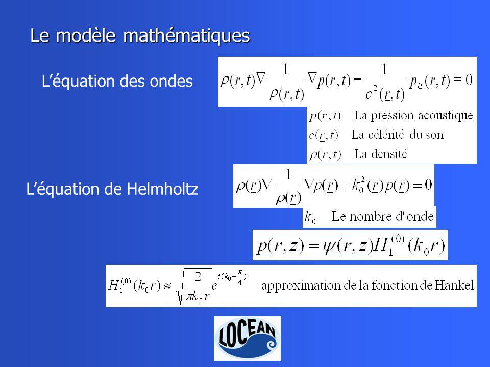 Le modèle mathématiques Léquation de Helmholtz Léquation des ondes