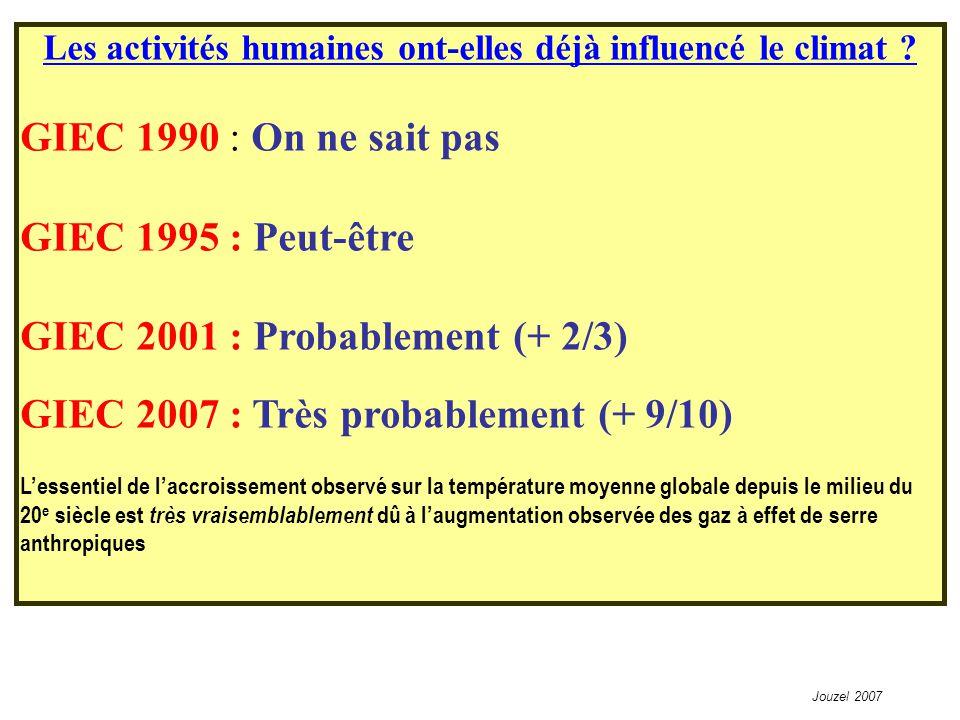 Les activités humaines ont-elles déjà influencé le climat .
