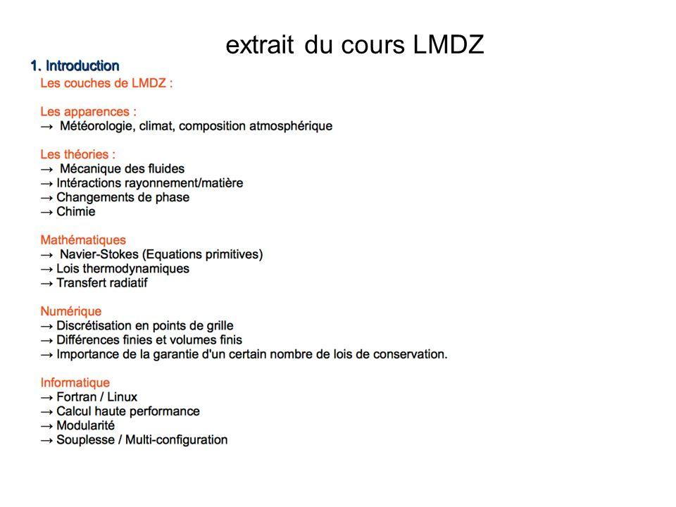 extrait du cours LMDZ