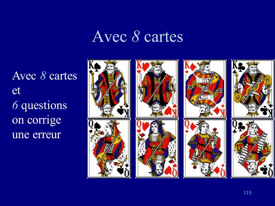 109 4 mots dans le code: a, b, a, b, a+b Chacun a 5 voisins Chacune des 4 sphères de rayon 1 a 6 éléments Il y a 24 réponses possible comportant au pl