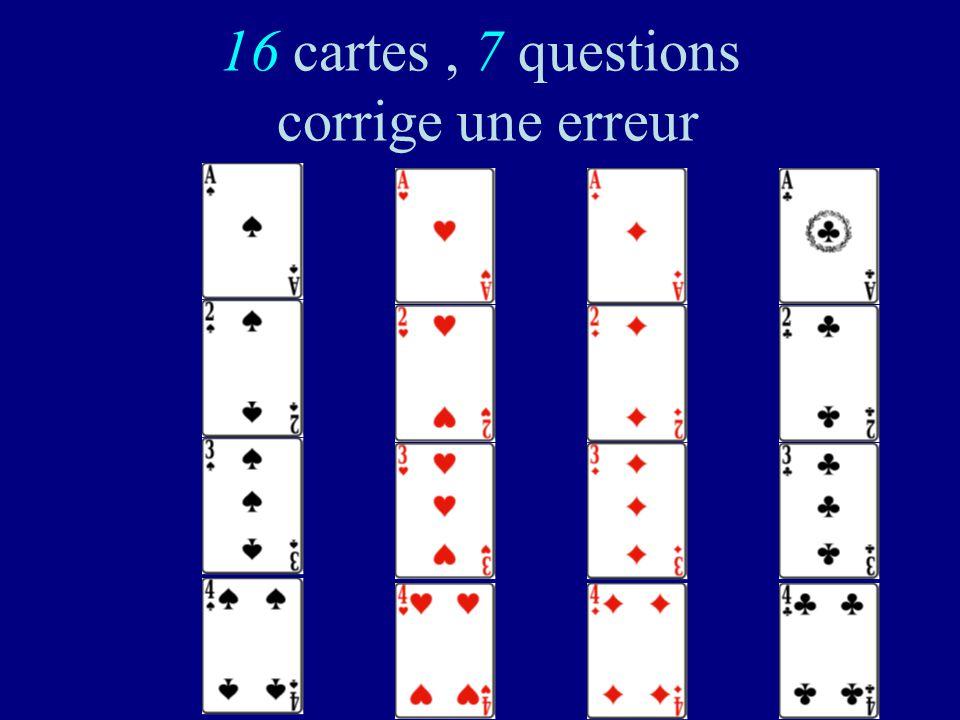 125 Code de Hamming (1950): Il y a 16= 2 4 mots dans le code Chacun a 7 voisins Chacune des 16 sphères de rayon 1 a 8 = 2 3 éléments et 16 8 =128. Cha