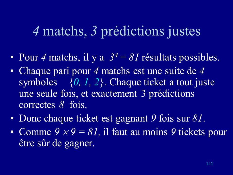 140 SPORT TOTO: le plus ancien code correcteur derreurs Un match entre deux équipes ou deux joueurs peut donner trois résultats: ou bien le joueur 1 g