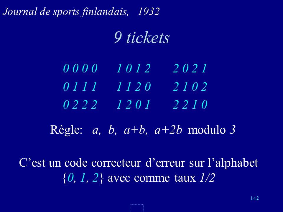 141 4 matchs, 3 prédictions justes Pour 4 matchs, il y a 3 4 = 81 résultats possibles. Chaque pari pour 4 matchs est une suite de 4 symboles {0, 1, 2}