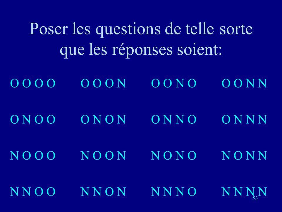 52 Représentation binaire: 0 0 0 0 0 10 0 1 10 0 1 0 0 1 0 00 1 0 1 1 10 1 1 0 1 0 0 01 0 0 11 0 1 11 0 1 1 0 01 1 0 11 1 1 1 1 0