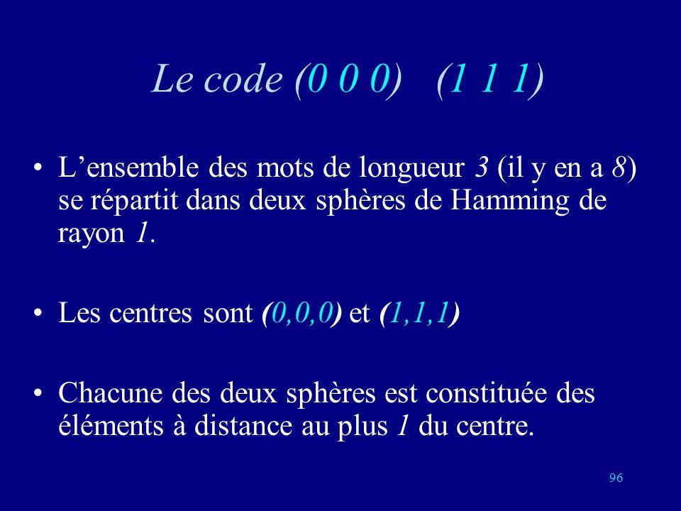95 Deux ou trois 0Deux ou trois 1 (0,0,1) (0,1,0) (1,0,0) (0,0,0) (1,0,1) (1,1,0) (1,1,1) (0,1,1)