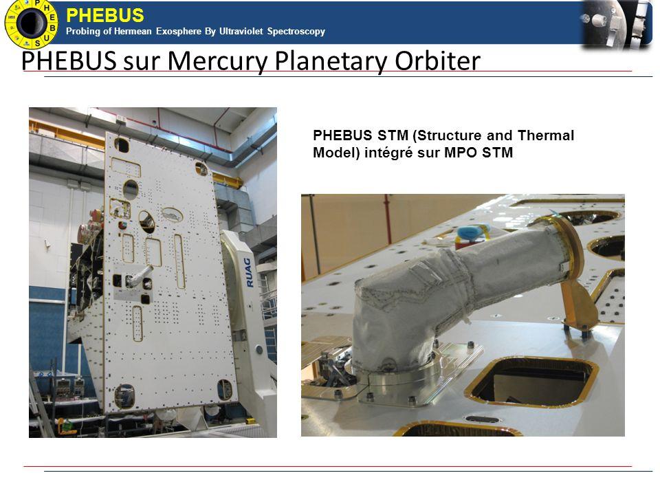 PHEBUS Probing of Hermean Exosphere By Ultraviolet Spectroscopy PHEBUS Probing of Hermean Exosphere By Ultraviolet Spectroscopy PHEBUS STM (Structure and Thermal Model) intégré sur MPO STM PHEBUS sur Mercury Planetary Orbiter