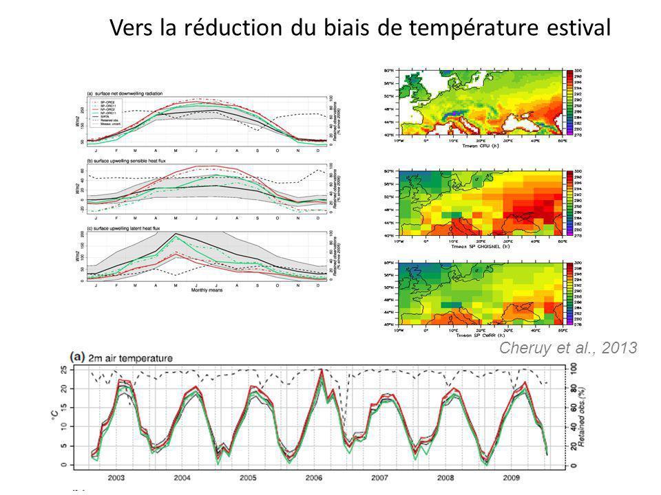 Vers la réduction du biais de température estival Cheruy et al., 2013