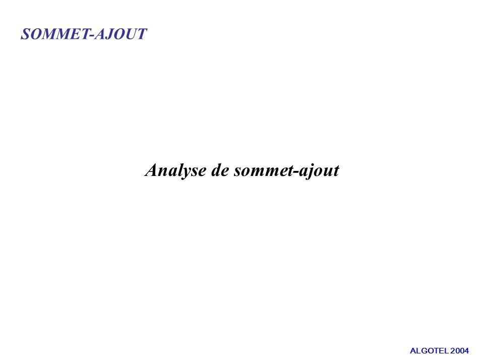 SOMMET-AJOUT Analyse de sommet-ajout ALGOTEL 2004