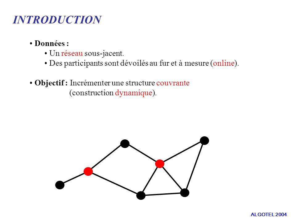 DEFINITIONS ET NOTATIONS : Modélisation G = (V, E,w) un graphe tel que : V représente les machines du réseau.