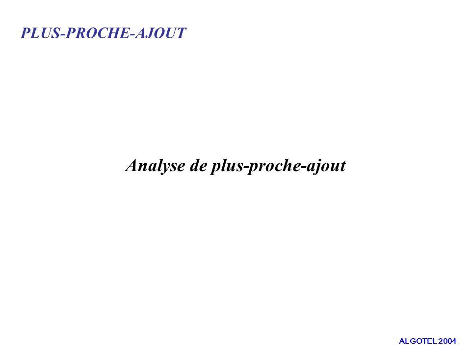 PLUS-PROCHE-AJOUT Analyse de plus-proche-ajout ALGOTEL 2004