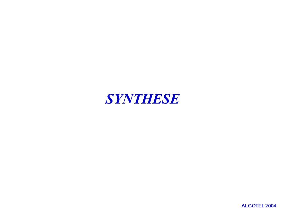 SYNTHESE ALGOTEL 2004
