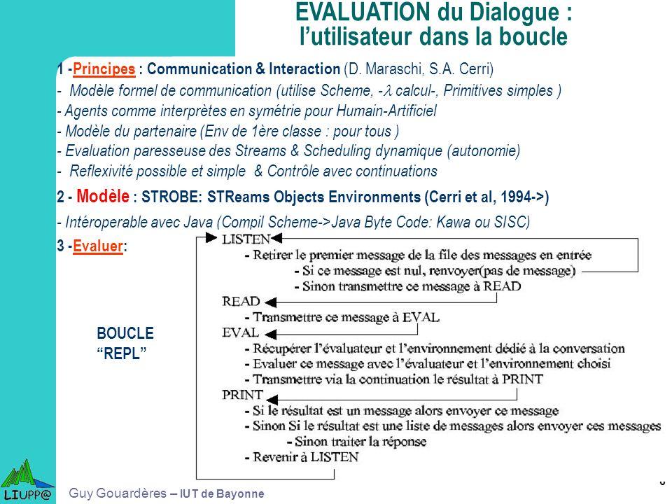 6 1 -Principes : Communication & Interaction (D. Maraschi, S.A. Cerri) - Modèle formel de communication (utilise Scheme, - calcul-, Primitives simples