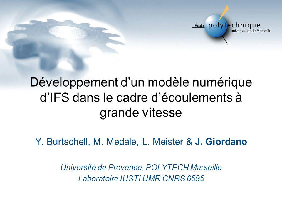 Développement dun modèle numérique dIFS dans le cadre découlements à grande vitesse Y.