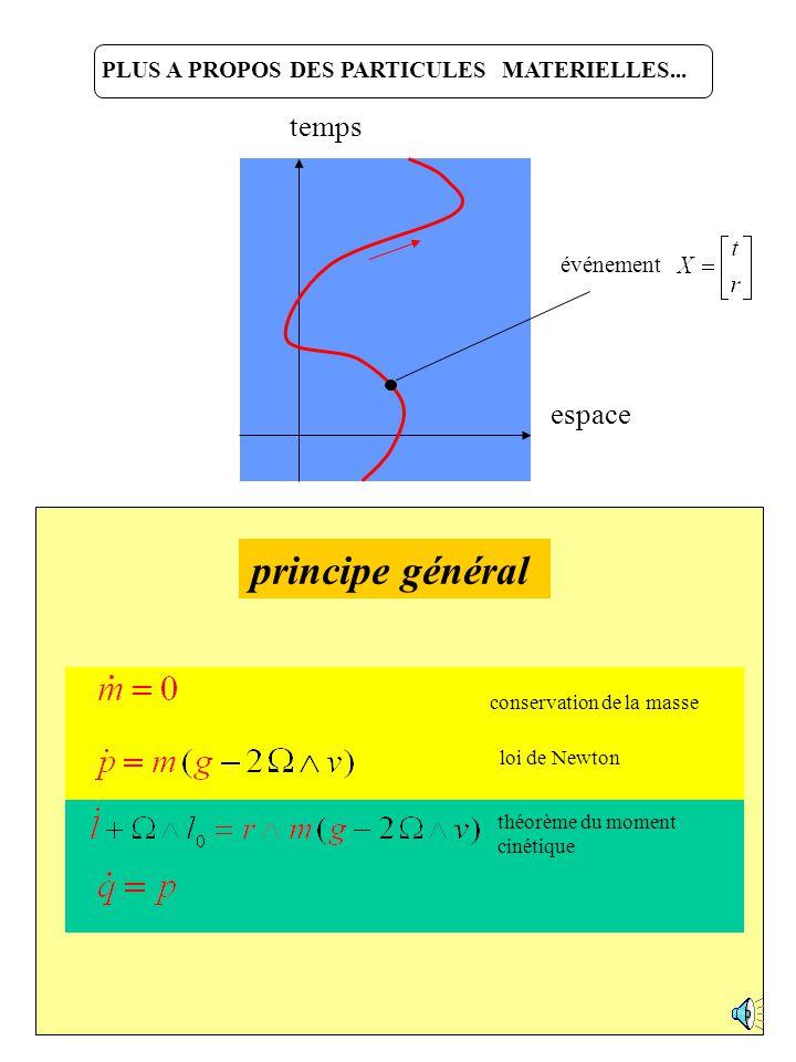 Déclinons le principe général… Dynamique des points matériels Statique des poutres et arcs Dynamique des milieux 3D Dynamique des coques