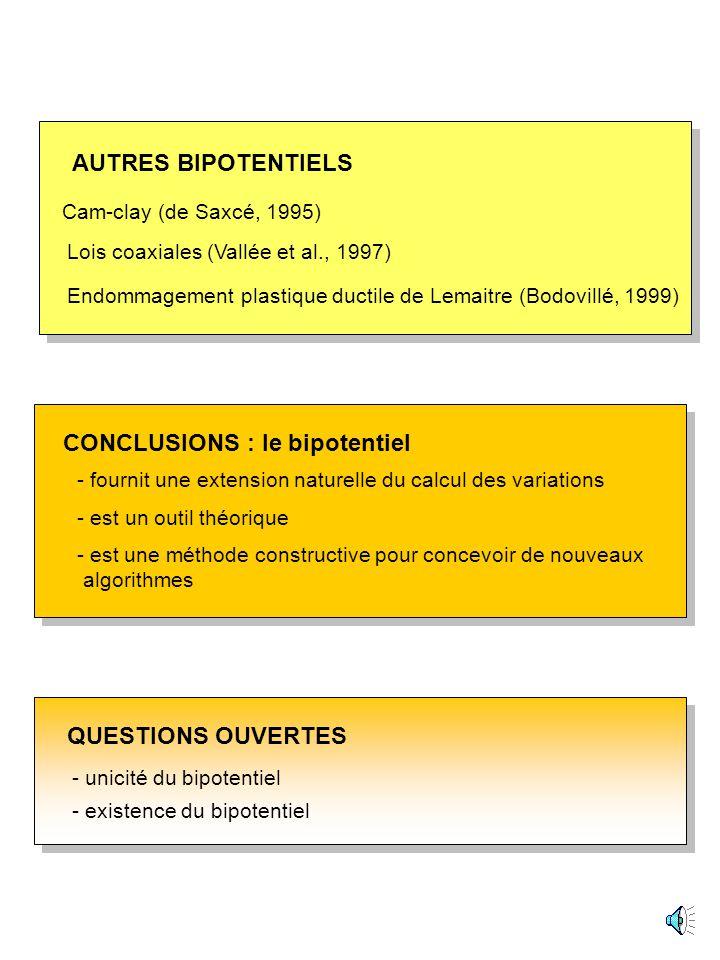 De Saxcé, Bouby, Tritsch (2003) déformations planes contraintes planes Lemaitre, Chaboche (1988) rochet domaine élastique domaine dadaptation plastiqu