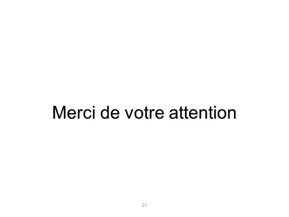 21 Merci de votre attention