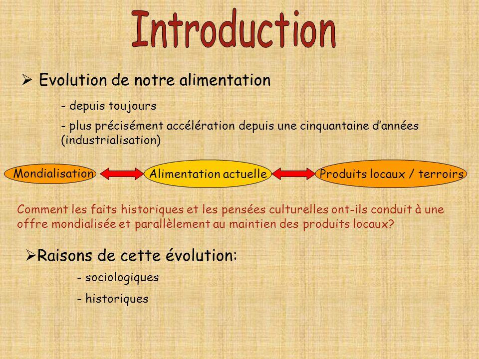 Evolution de notre alimentation - depuis toujours - plus précisément accélération depuis une cinquantaine dannées (industrialisation) Alimentation act