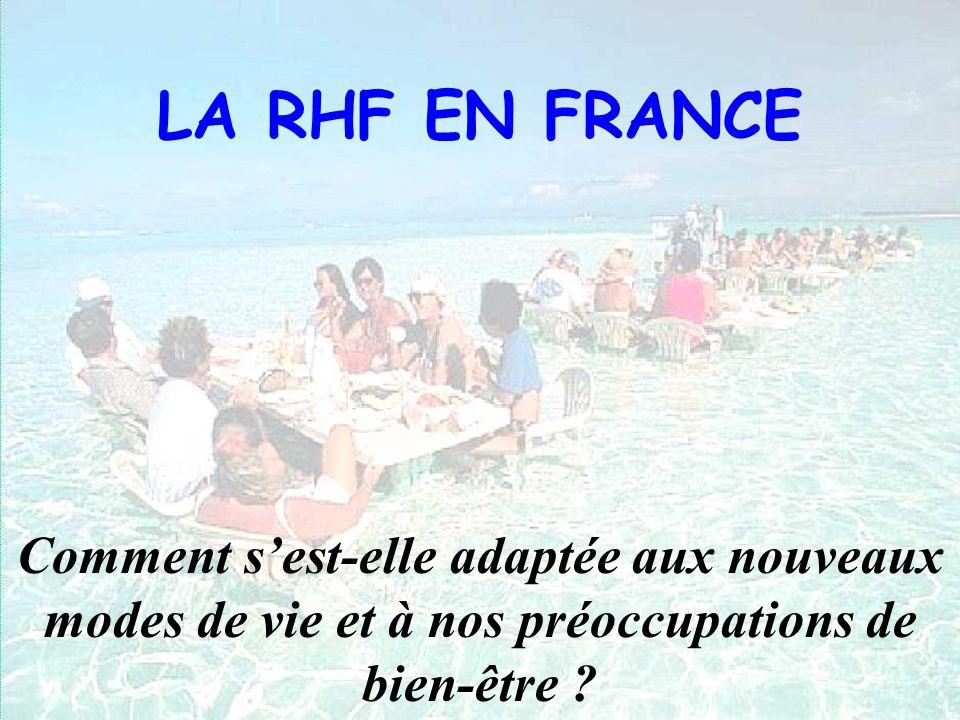 LA RHF EN FRANCE Comment sest-elle adaptée aux nouveaux modes de vie et à nos préoccupations de bien-être ?