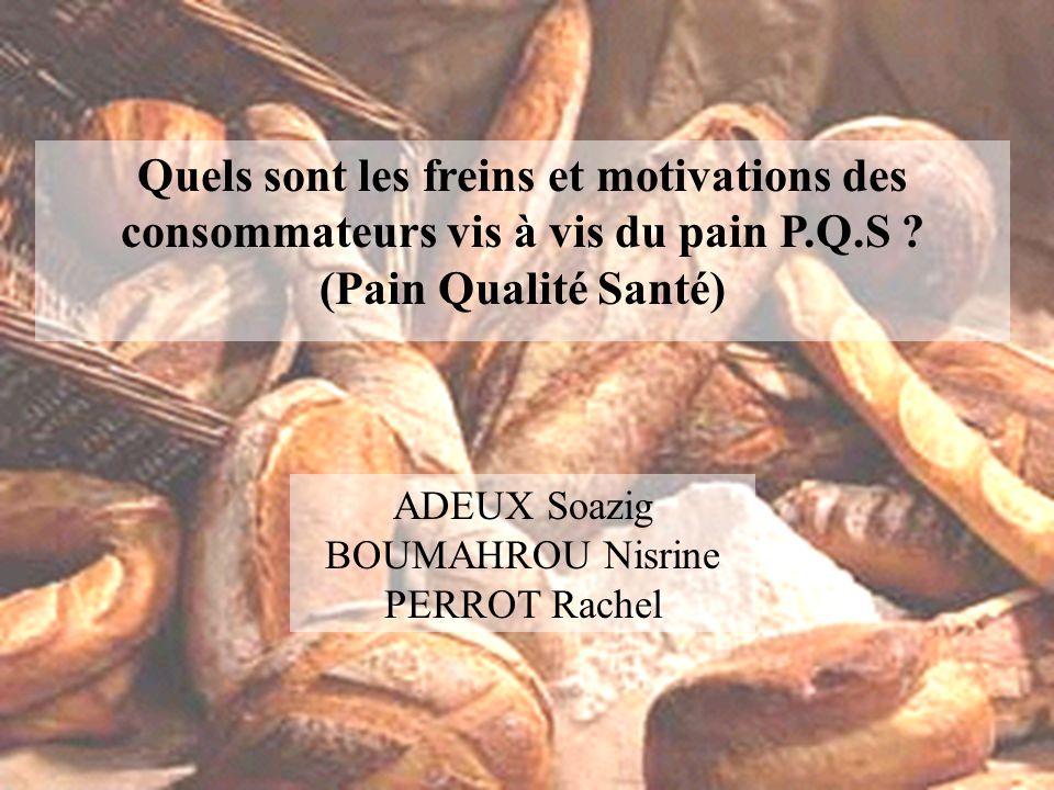 Quels sont les freins et motivations des consommateurs vis à vis du pain P.Q.S .