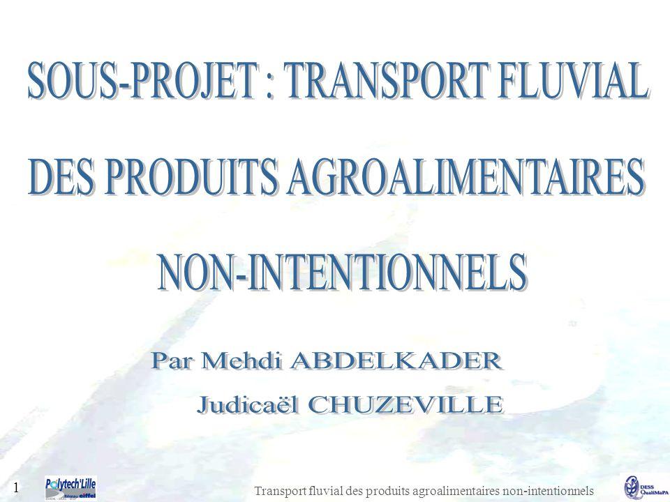 Transport fluvial des produits agroalimentaires non-intentionnels 1