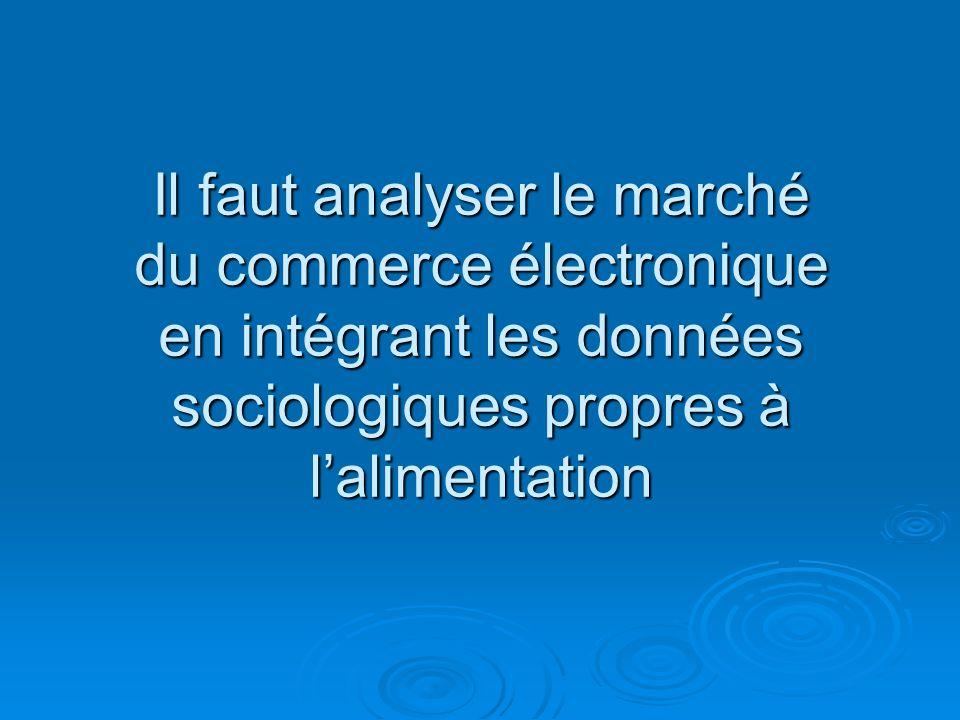 Il faut analyser le marché du commerce électronique en intégrant les données sociologiques propres à lalimentation