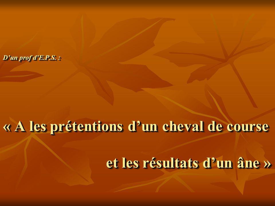 « Monsieur Vu que Léon a le ver solitaire, veuillez lautoriser à manger son cent douiches à lar écréation.