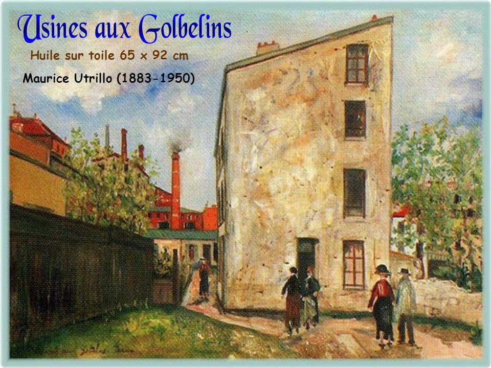 Huile sur toile 36 x 41 cm Maurice Utrillo (1883-1950)