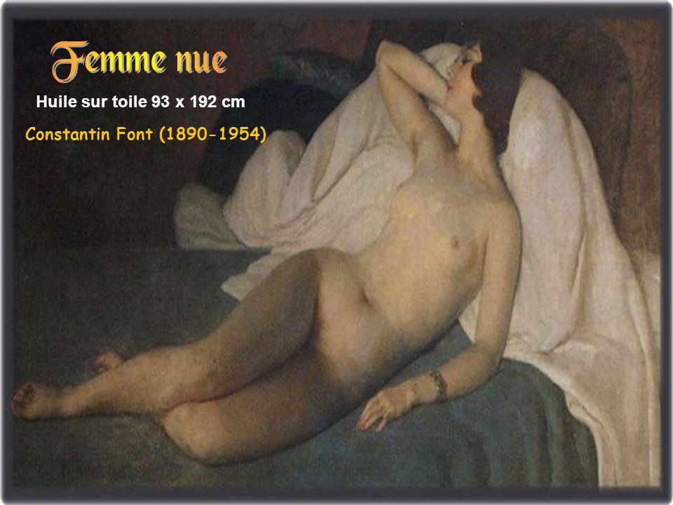 Huile sur toile 45 x 55 cm Constantin Font (1890-1954)