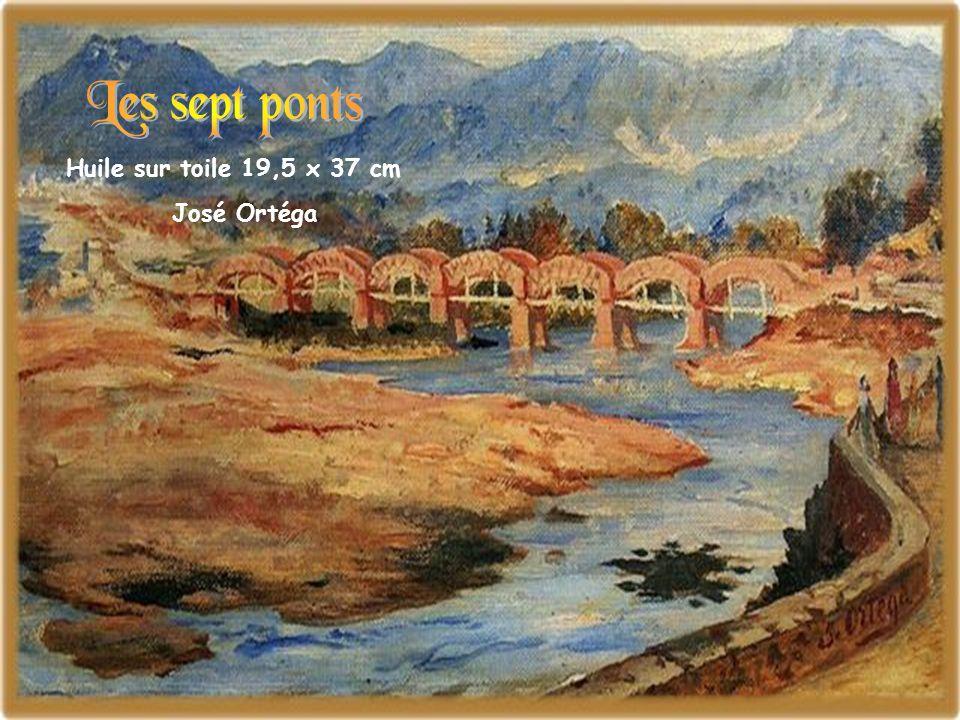 Huile sur toile 19,5 x 37 cm José Ortéga