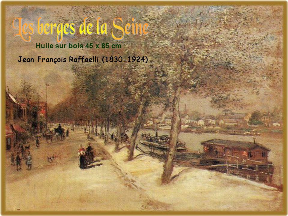 Huile sur bois 45 x 85 cm Jean François Raffaelli (1830-1924)