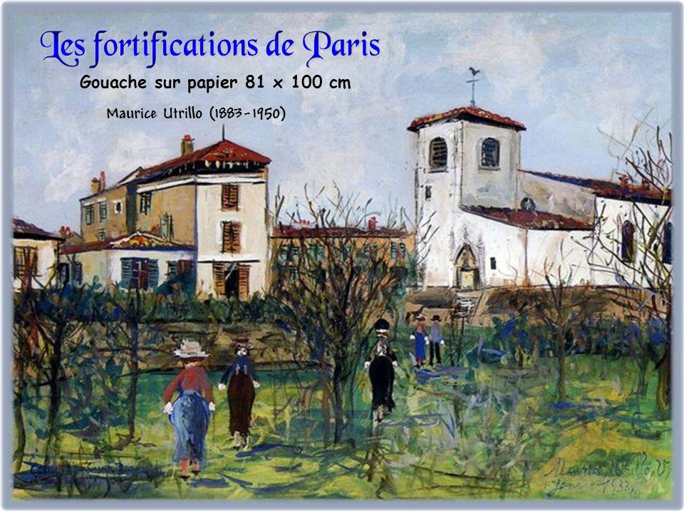 Gouache sur papier 81 x 100 cm Maurice Utrillo (1883-1950)