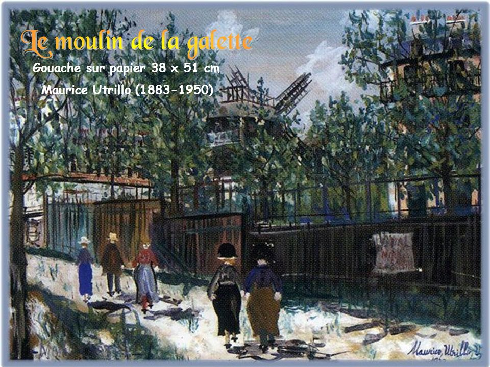 Gouache sur papier 38 x 51 cm Maurice Utrillo (1883-1950)