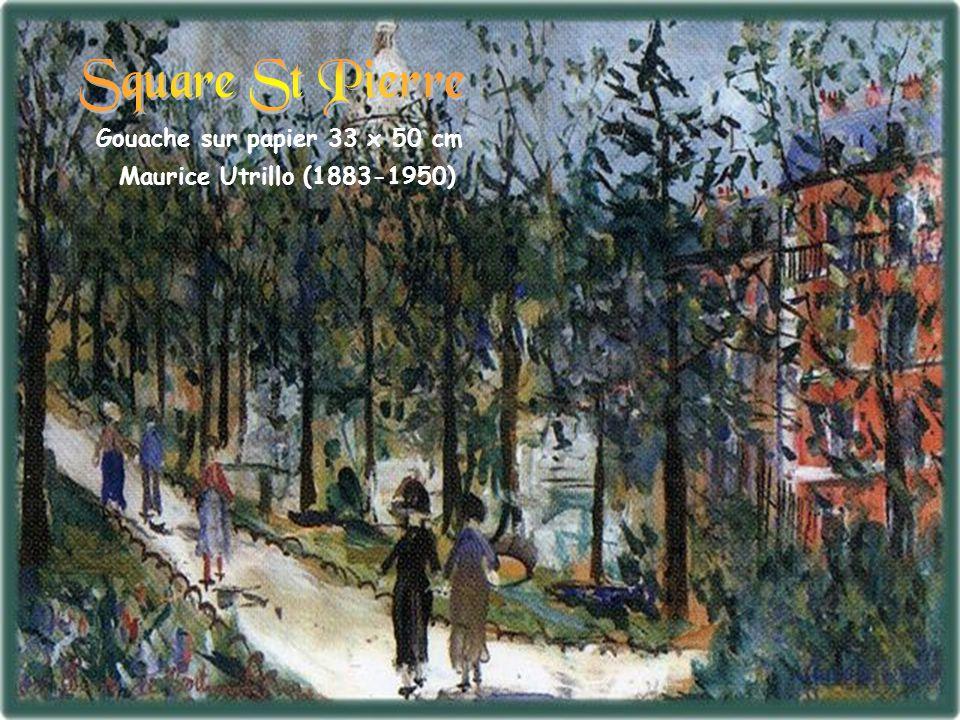 Gouache sur papier 33 x 50 cm Maurice Utrillo (1883-1950)