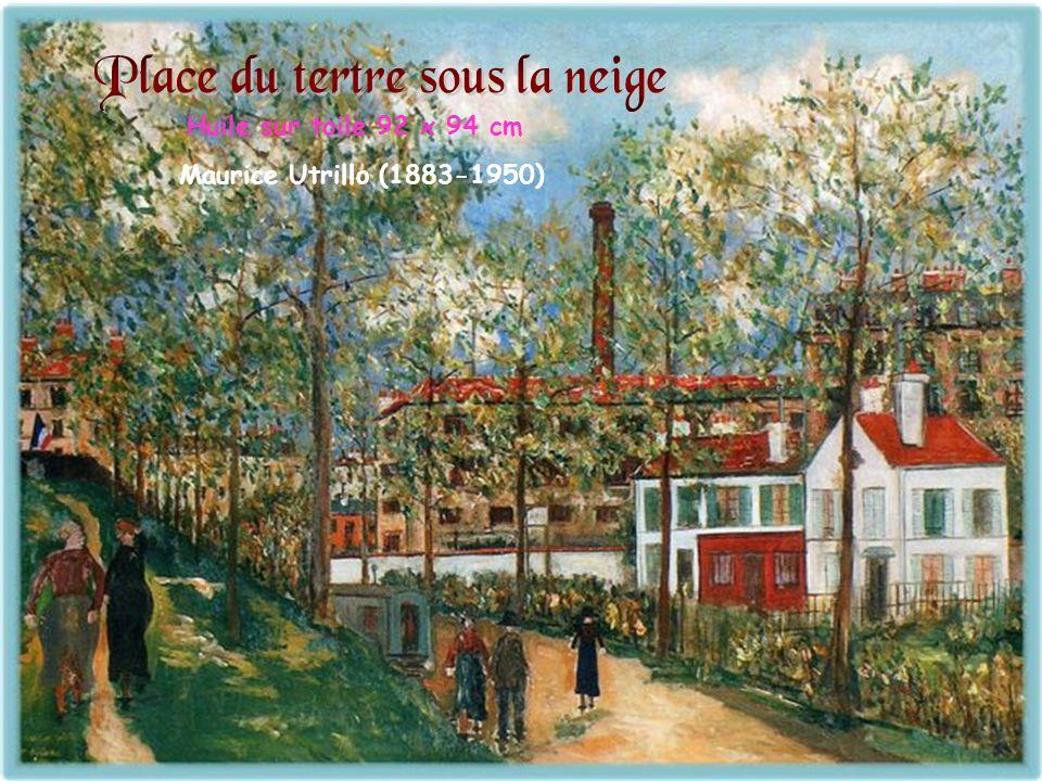 Huile sur toile 92 x 94 cm Maurice Utrillo (1883-1950)