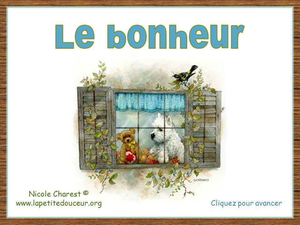 Cliquez pour avancer Nicole Charest © www.lapetitedouceur.org
