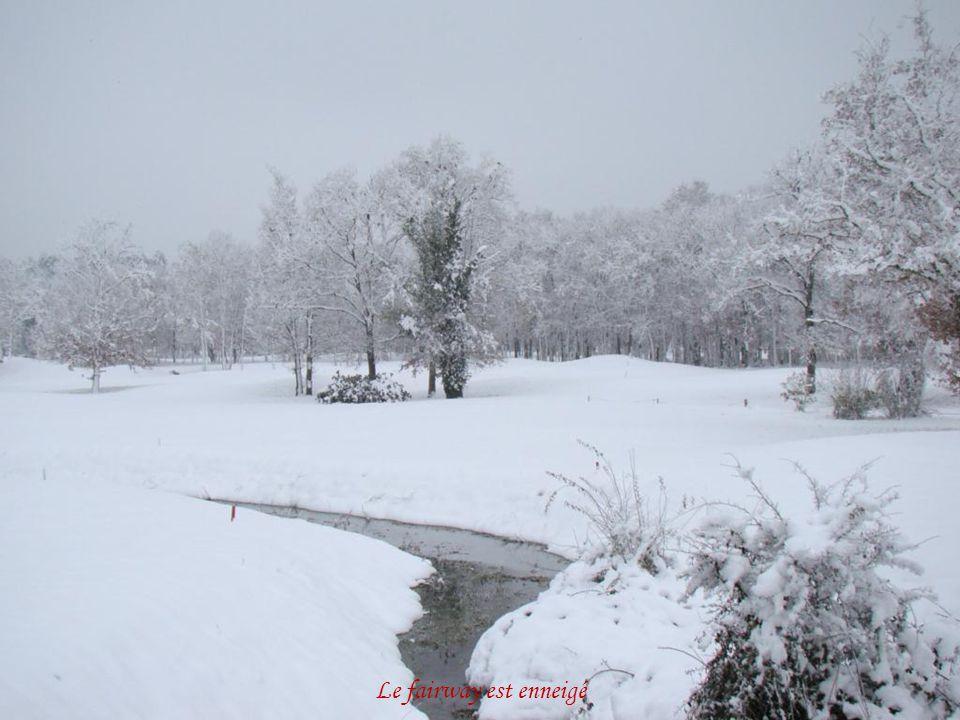 Le golf est sous la neige