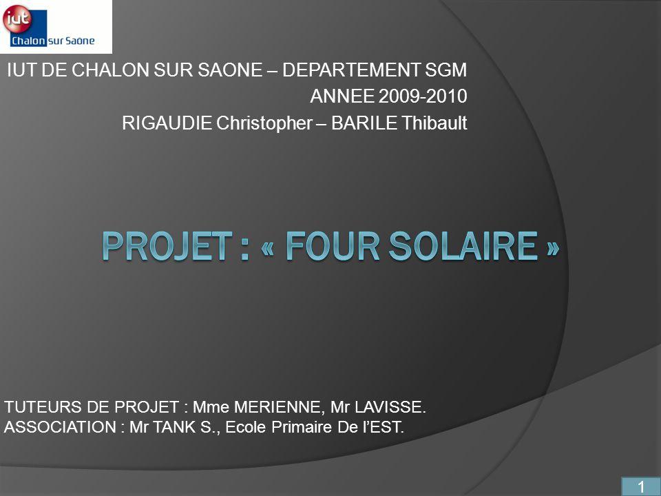 IUT DE CHALON SUR SAONE – DEPARTEMENT SGM ANNEE 2009-2010 RIGAUDIE Christopher – BARILE Thibault TUTEURS DE PROJET : Mme MERIENNE, Mr LAVISSE. ASSOCIA