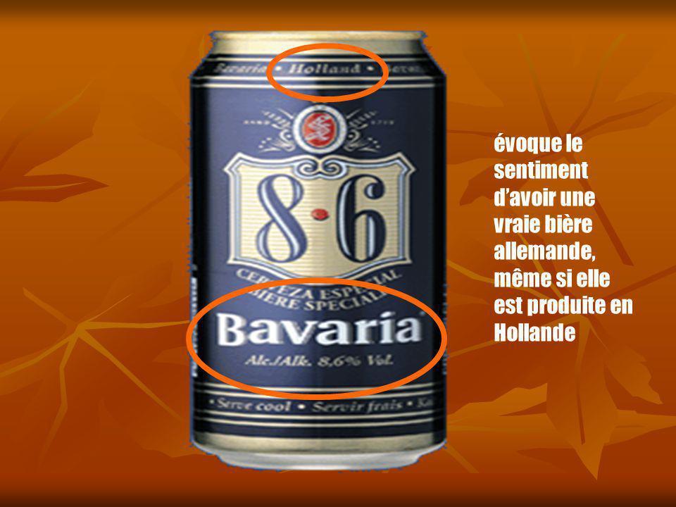 évoque le sentiment davoir une vraie bière allemande, même si elle est produite en Hollande