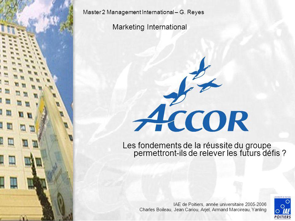 Master 2 Management International – G. Reyes Marketing International Les fondements de la réussite du groupe permettront-ils de relever les futurs déf