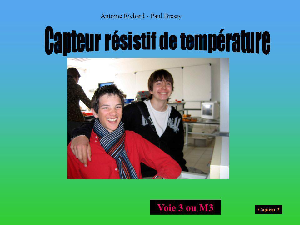 Capteur 3 Antoine Richard - Paul Bressy Voie 3 ou M3
