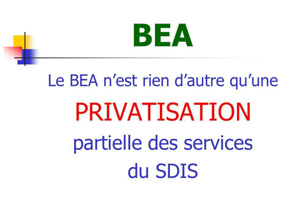 BEA En effet, en transférant la propriété des immeubles à un emphytéote, le SDIS se dessaisit de nombreuses tâches administratives et techniques qui auraient pu être faites par des fonctionnaires territoriaux.