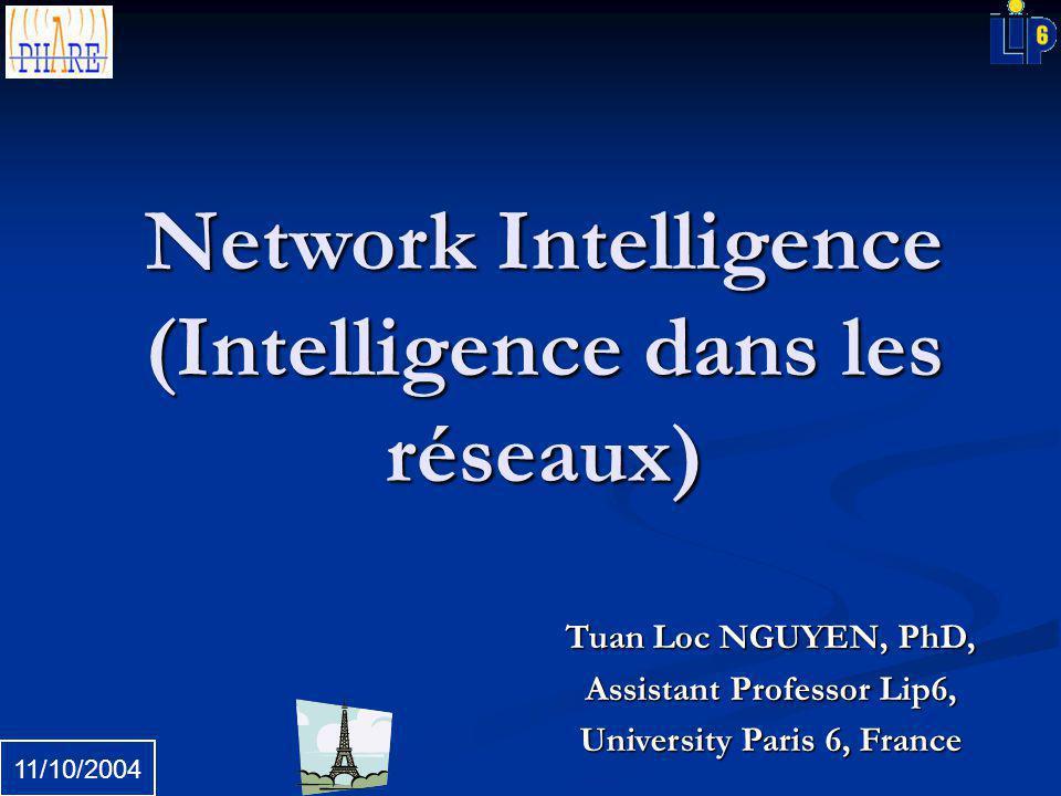 Tuan Loc NGUYEN, PhD, Assistant Professor Lip6, University Paris 6, France 11/10/2004 Network Intelligence (Intelligence dans les réseaux)
