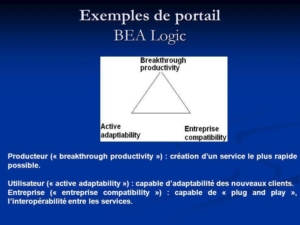 Producteur (« breakthrough productivity ») : création dun service le plus rapide possible. Utilisateur (« active adaptability ») : capable dadaptabili