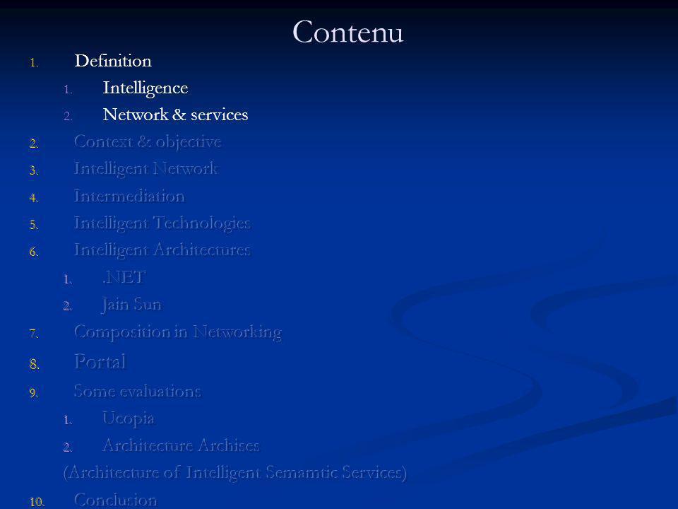 Service dArchises - Service dArchises - « intelligent semantic service » est une suite de compositions des éléments architecturaux : composant: boîte noire (instructions logicielles), entrées, sorties.