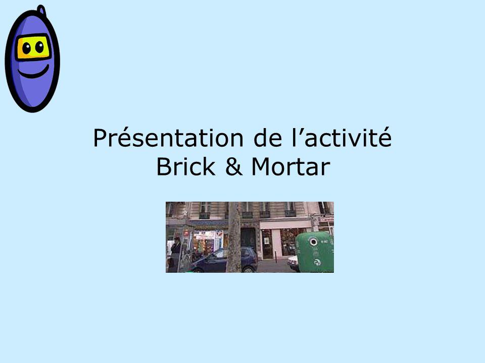 Présentation de lactivité Brick & Mortar