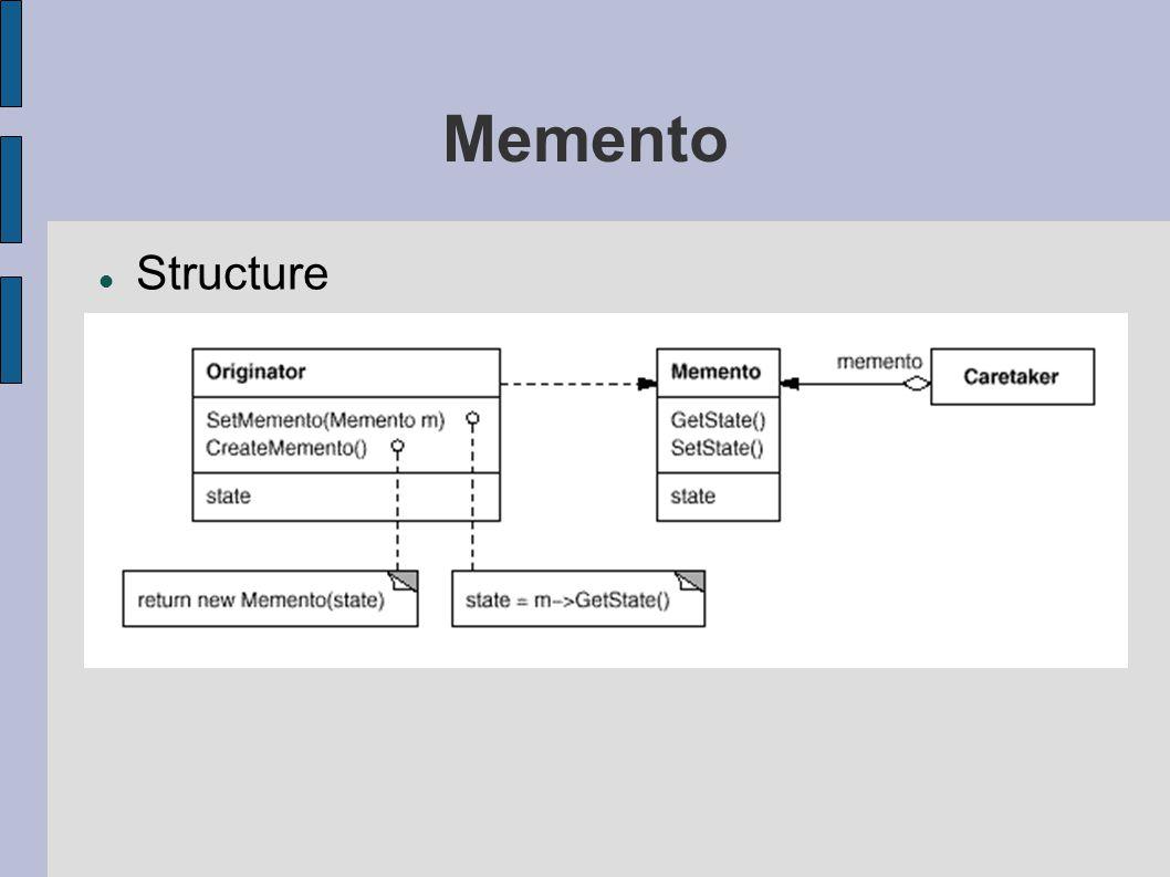Memento Structure