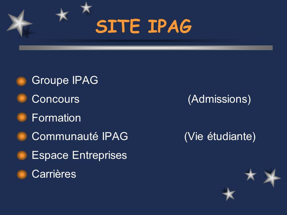 Communauté IPAG Une dynamique associative : L importance accordée à la vie associative est l un des fondements de l esprit « école » propre à l IPAG.