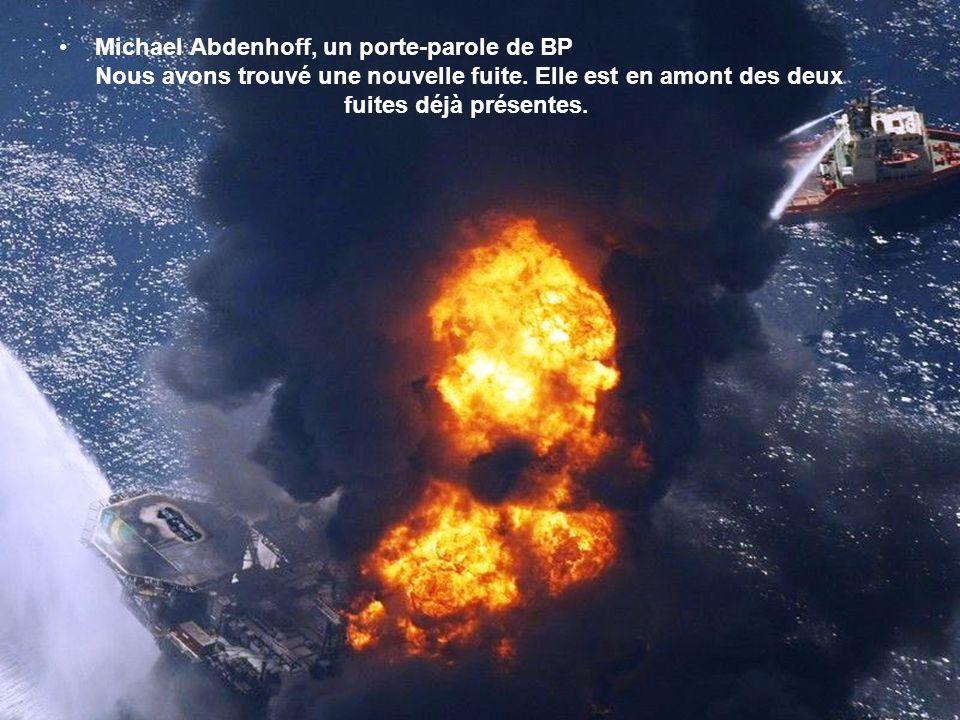 Michael Abdenhoff, un porte-parole de BP Nous avons trouvé une nouvelle fuite.