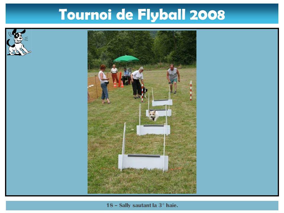 Tournoi de Flyball 2008 17 – Sally sautant la 2° haie.
