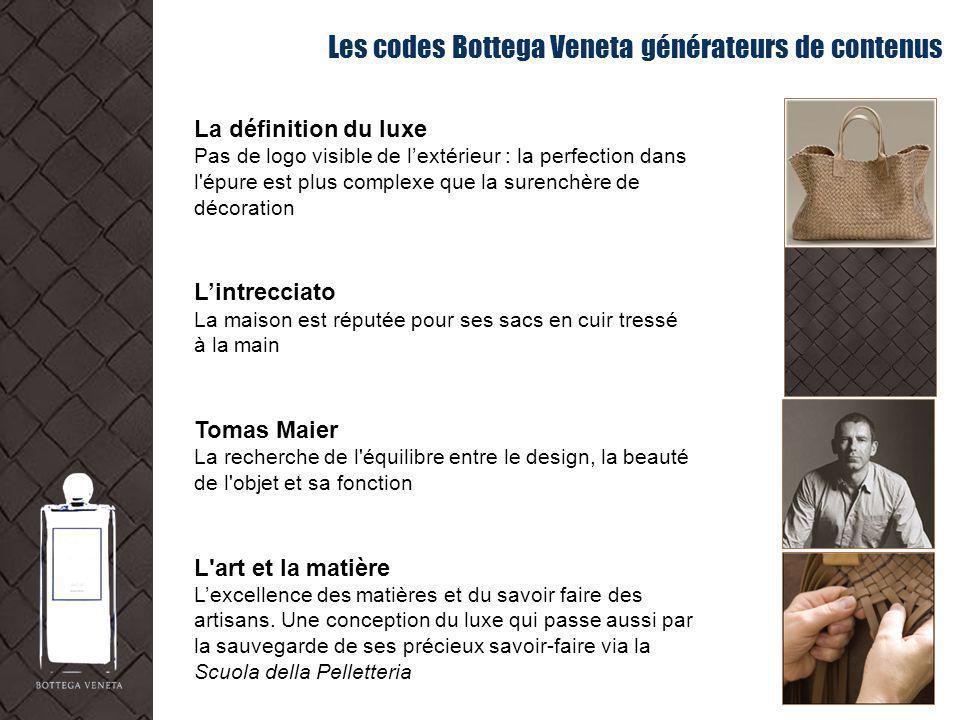 Les codes Bottega Veneta générateurs de contenus La définition du luxe Pas de logo visible de lextérieur : la perfection dans l'épure est plus complex